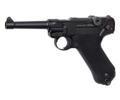 Страйкбольный пистолет ASG Luger P08 Blowback green gas (16229)
