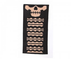 Шарф-маска орнамент скулы Black