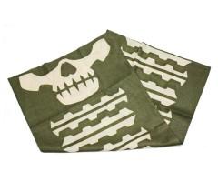 Шарф-маска орнамент скулы Green