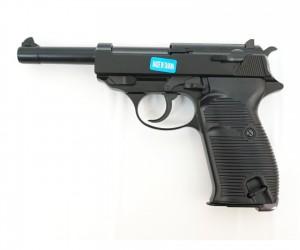 Страйкбольный пистолет WE Walther P38 GBB Black (WE-P010LBOX-BK)