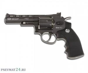 """Пневматический револьвер Gletcher SW R4, пулевой (4"""")"""