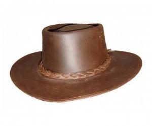 Шляпа ковбойская кожаная (DE-720-L)