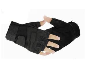 Перчатки с обрезанными пальцами Blackhawk Black