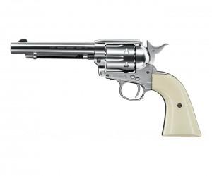 """Пневматический револьвер Umarex Colt Single Action Army (SAA) .45 Nickel, пулевой (5,5"""")"""