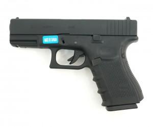Страйкбольный пистолет WE Glock-19 Gen.4, сменные накладки (WE-G003B-BK)