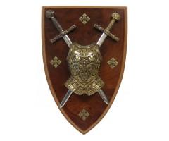 Панно, 2 мини-меча (Эскалибр и Карла Великого), кираса, DE-508