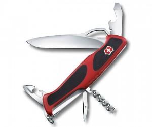 Нож складной Victorinox RangerGrip 0.9553.MC (130 мм, красный с черным)