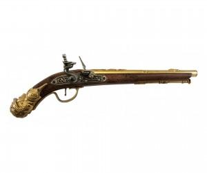 Макет пистолет кремневый, под дерево (Германия, XVII век) DE-1314