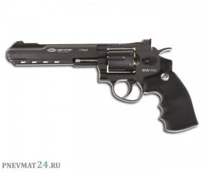 """Пневматический револьвер Gletcher SW R6, пулевой (6"""")"""