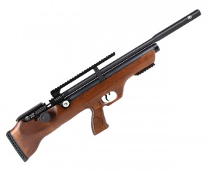 Пневматическая винтовка Hatsan Flashpup-W QE (дерево, PCP, модератор, 3 Дж) 5,5 мм