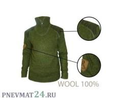 Свитер шерсть 100%, молния короткая Remington (зеленый)