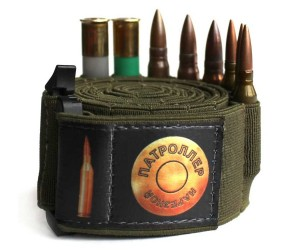 Патронташ-бандольера Патроллер для 100 нарезных/410 патронов эластичный