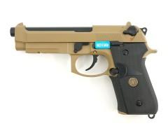 Страйкбольный пистолет WE Beretta M9A1 Rail Tan (WE-M009)