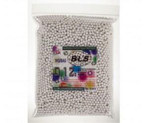 Шары для страйкбола BLS 0,12 г, 8300 штук (1 кг, белые) 1KG-H12