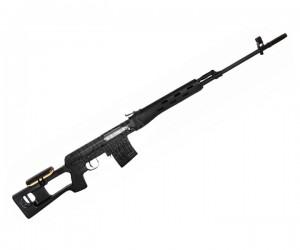 Снайперская винтовка AY 555 A, спринговая SVD, пластик Black (Koer)
