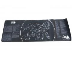 Коврик ShotTime для чистки оружия АК-47, 90x30 см