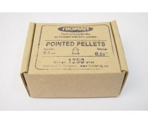 Пули Люман Pointed Pellets 4,5 мм, 0,68 грамм, 1250 штук