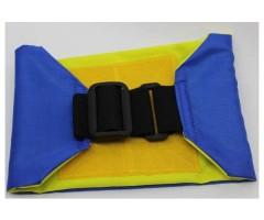 Повязка стороны на резинке, желто-синяя (вар.1)