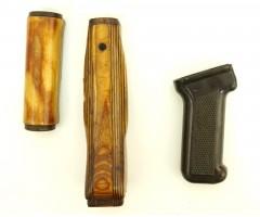 Тюнинг комплект для АК-74, Сайга (дерев. цевье и накладка, бакелит. рукоять)