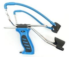 Рогатка Man Kung MK-SL06, с упором и магазином (синяя)