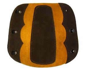Крага на шнуровке коричневая (комбинированная замша)