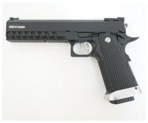 """Страйкбольный пистолет KJW Colt M1911 Hi-Capa 6"""" CO₂ (KP-06.CO2)"""
