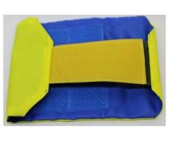 Повязка стороны на липе, желто-синяя (вар.2)