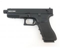 Страйкбольный пистолет KJW Glock G18 TBC Gas, удлин. ствол