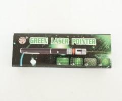 Лазерная указка в виде ручки 8000 mW (зеленый цвет) + 5 насадок