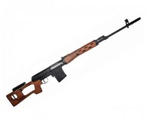 Снайперская винтовка AY 555 B, спринговая SVD, пластик под дерево (Koer)