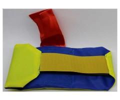 Повязка стороны с красной лентой, желто-синяя (вар.3)