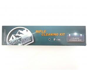 Набор для чистки ShotTime кал. 9 мм, металл. шомпол +3 ерша, пластик. пенал