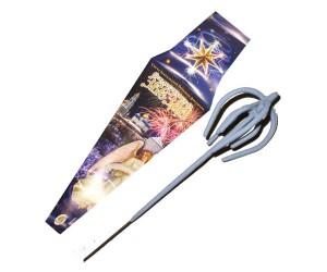 Свеча бенгальская фигурная объемная «Рождественская звезда» 485 мм