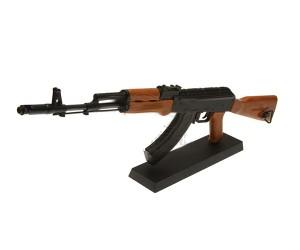 Сувенирная сборная модель автомата AK74 Blaсk/wood масштаб 1:6