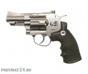 "Пневматический револьвер Gletcher SW R25 Silver, пулевой (2,5"")"