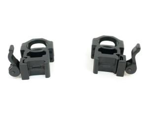 Кольца Leapers UTG 25,4 мм быстросъемные на Weaver, с рычажным зажимом, высокие (RQ2W1204)