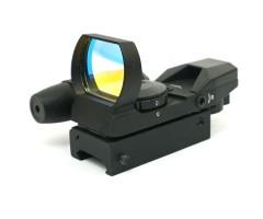 Коллиматорный прицел Sightmark Laser Dual Shot, панорамный с ЛЦУ, 4 марки, 7 ур. (SM13002)