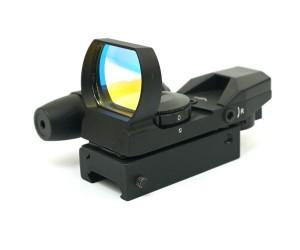 Коллиматорный прицел Sightmark Laser Dual Shot, панорамный с ЛЦУ, 4 марки (SM13002)