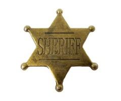 Значок звезда Шерифа шестиконечная, 4,5 см (DE-106)