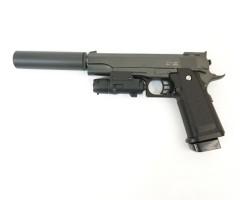 Страйкбольный пистолет Stalker SA5.1S Spring (Hi-Capa 5.1, с ЛЦУ и глушителем)