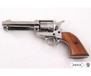 Макет револьвер Colt Peacemaker .45, никель (США, 1873 г.) DE-1186-NQ