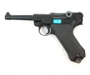 """Страйкбольный пистолет WE Luger P08 4"""" Black (WE-P001)"""