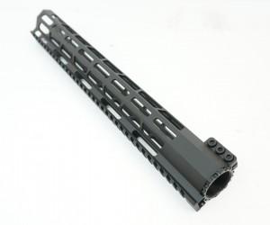 """Цевье New AR15 M-LOK Super Slim, стальная гайка, длина 15"""" / 380 мм (BH-MR48)"""