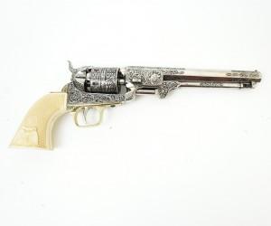 Макет револьвер морского офицера Colt Navy, рук. под кость (США, 1851 г.) DE-1040-B