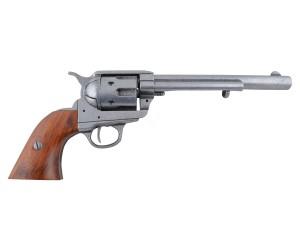 """Макет револьвер Colt Peacemaker .45, 7½"""", серый (США, 1873 г.) DE-1107-G"""