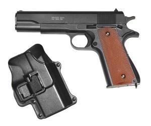 Страйкбольный пистолет Galaxy G.13+ (Colt 1911) с кобурой