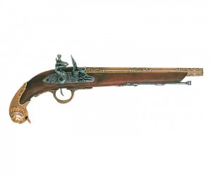 Макет пистолет кремневый, латунь (Германия, XVIII век) DE-1043-L