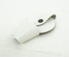 Чехол для наручников «БРС» открытый (кожа, белый)