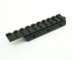 Планка-переходник с «ласточкин хвост» на Weaver, с выносом, 100 мм (BH-MR09)