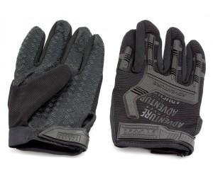Перчатки тактические Adventure полноразмерные прорезиненные (черные)